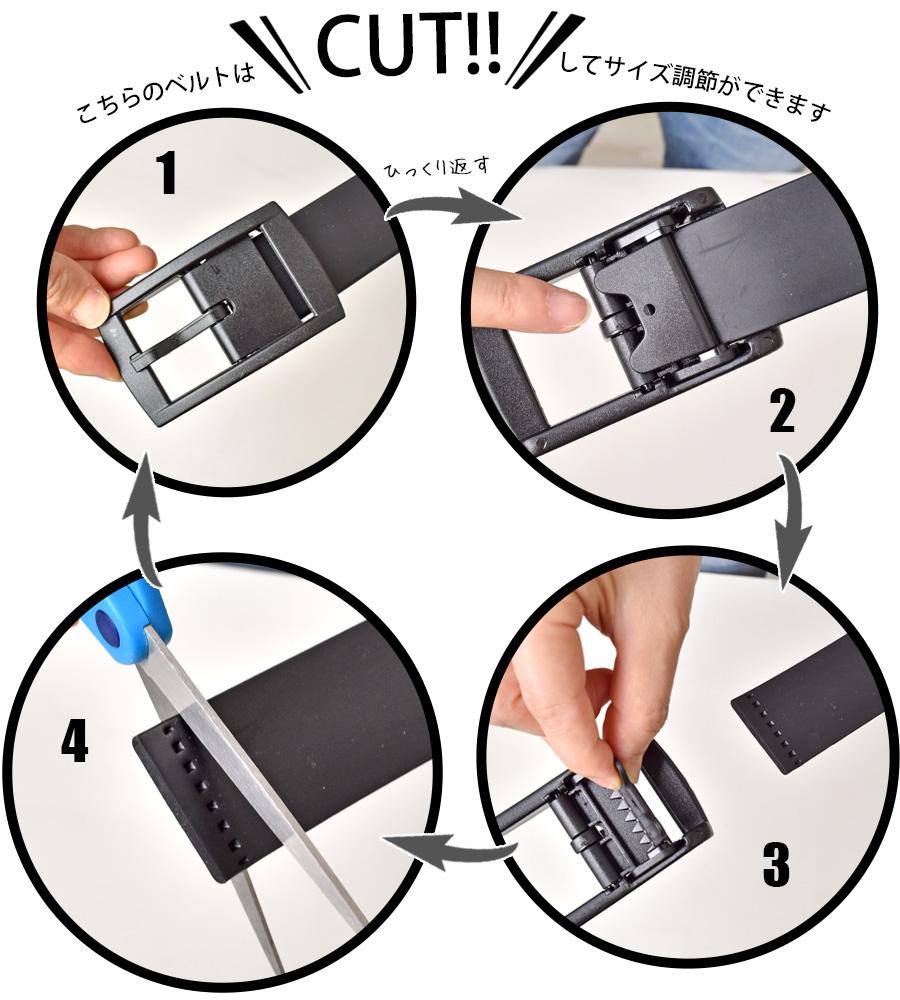 ベルトのカット方法