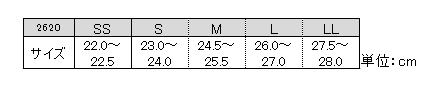 グリーンマスター/ロング丈/サイズ表