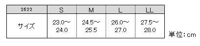2622サイズ表