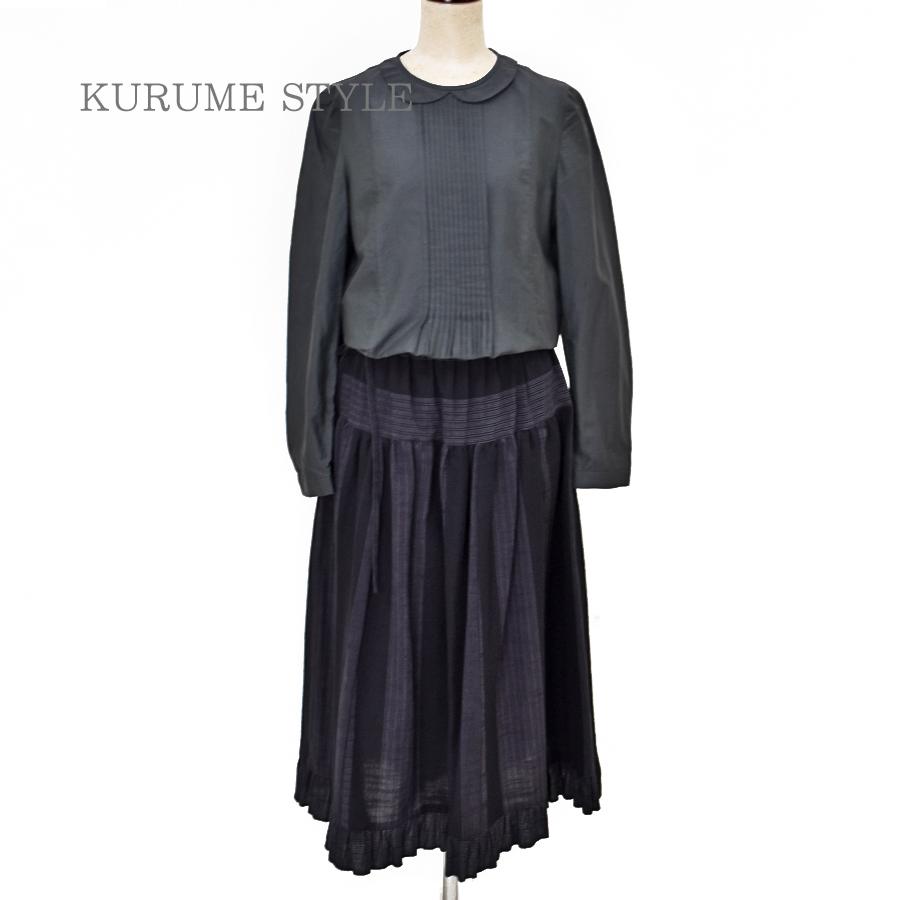 久留米絣/スカート/国武織物/のらぎや