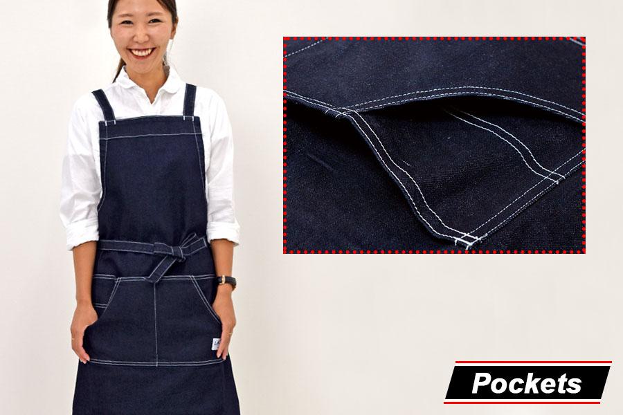 使いやすい斜めフロントポケット