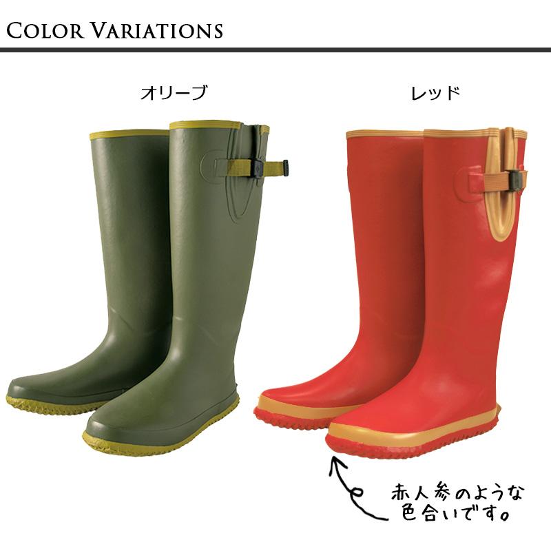 のらスタイルののらファームブーツはロングタイプの農作業用長靴です