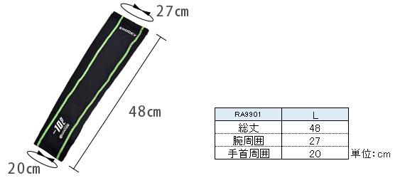 RA9901のサイズ表