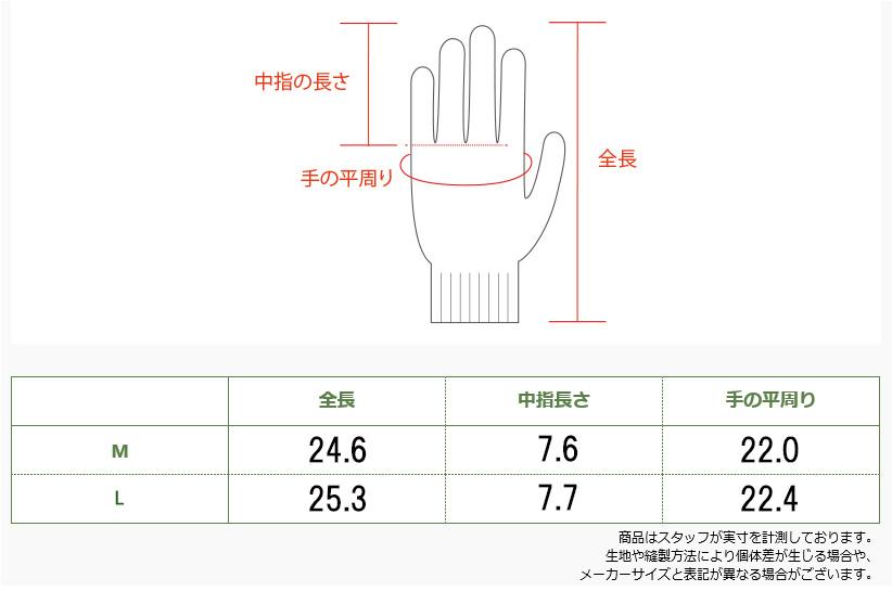 ユニワールド/ワンダーグリップ フリーズフレックスプラス/手袋/防寒手袋/WG538/防水/のらぎや/サイズ表